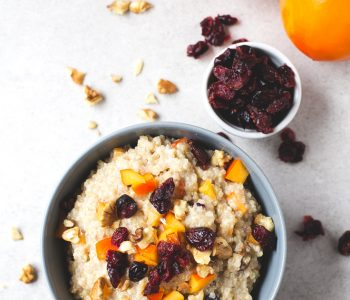 Quinoa Made 3 Ways: Breakfast Porridge, Curry Balls, Feta Salad