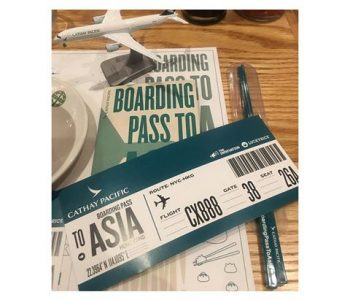 Boarding Pass To Asia With Cathay Pacific At Tiger Fork DC
