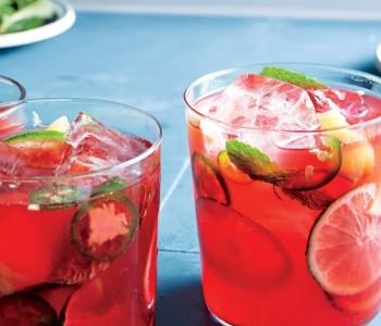 Poolside Summer Mocktail: Hibiscus Ginger Arnold Palmer